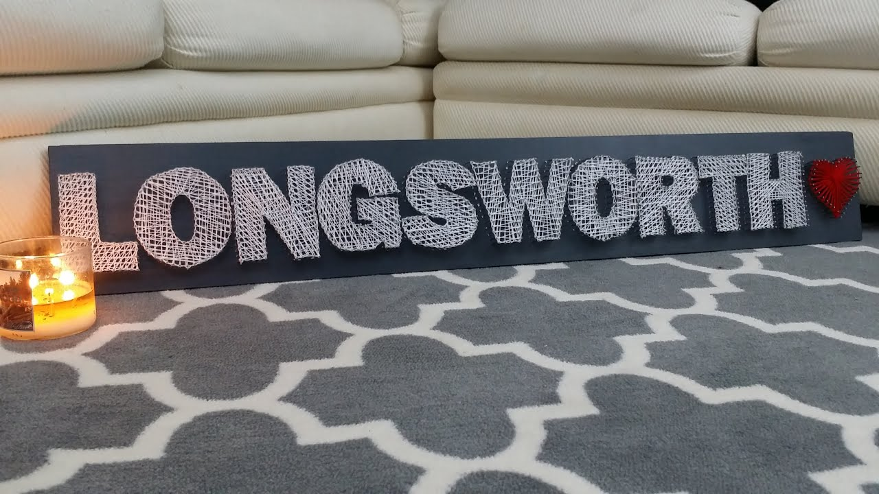 diy string art last name