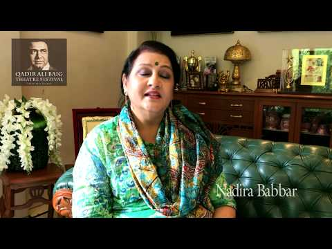 Nadira Babbar on bringing her play to Qadir Ali Baig Theatre Festival 2017