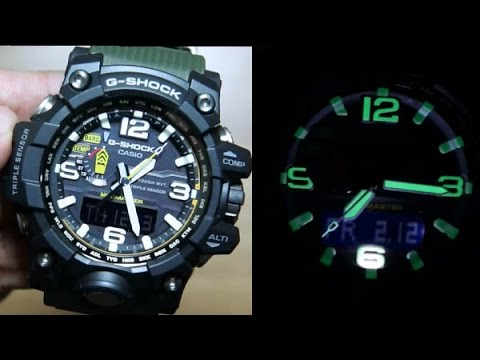 3cde2d85e8e Casio G-shock MudMaster GWG-1000-1A3  TRIPLE SENSOR - YouTube