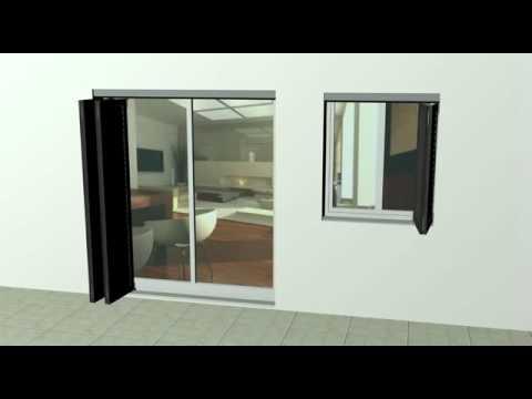 animation volet pliant aluminium youtube. Black Bedroom Furniture Sets. Home Design Ideas
