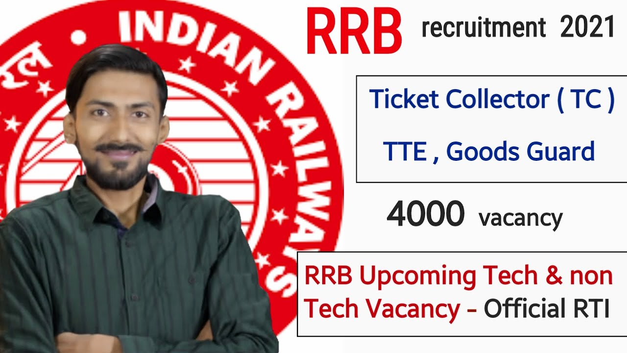 Railway TC, TTE (Ticket Collector) & Goods Guard Recruitment 2021 | Railway JE Total Vacancy – RTI