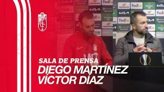 Granada CF vs Manchester United | Rueda de prensa postpartido de Diego Martínez y Víctor Díaz