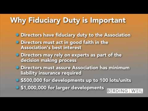 Fiduciary Duty Nuts and Bolts