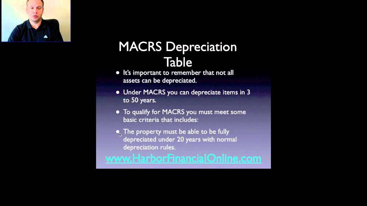 macrs depreciation table 2012 2013 youtube