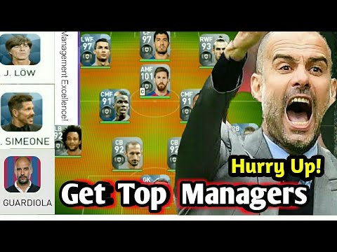 Get Top Managers with Highest Management Skills in PES 2018 MOBILE