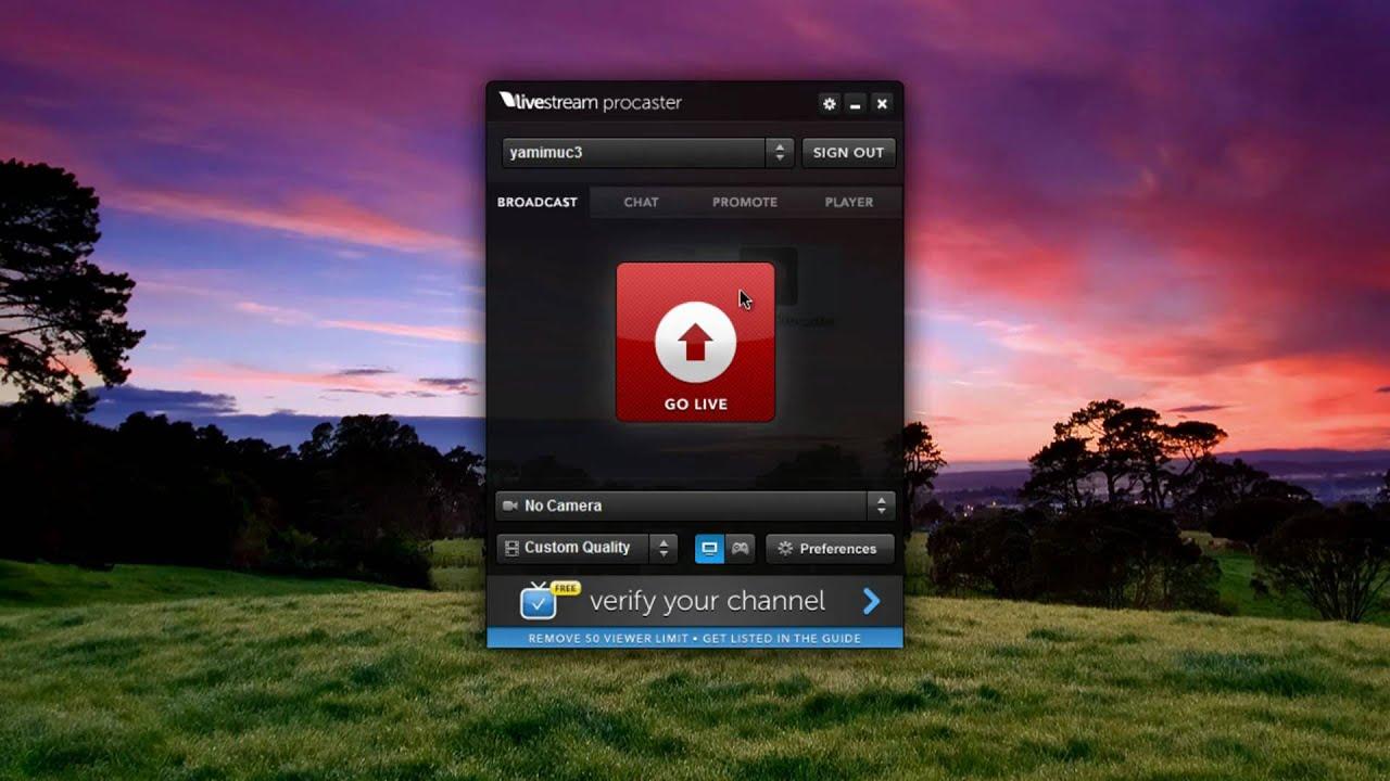 Livestream selber und kostenlos erstellen fr Games oder