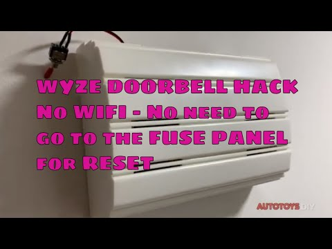 Wyze DoorBell Wifi Reset HACK WITH a switch, no more going to the fuse panel after a power failure