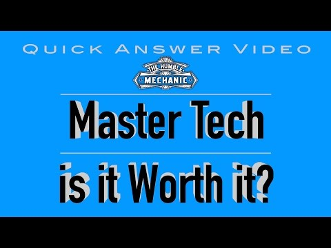 Master Technician, Is it REALLY Worth It?