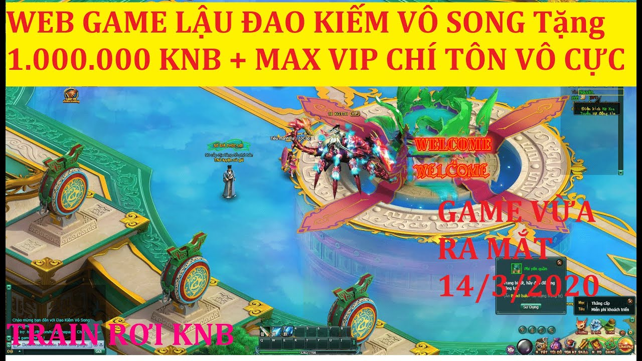 Web Game Lậu ĐAO KIẾM VÔ SONG Tặng 1.000.000 KNB Max Vip Train Ra KNB 200 Món Đồ Khủng