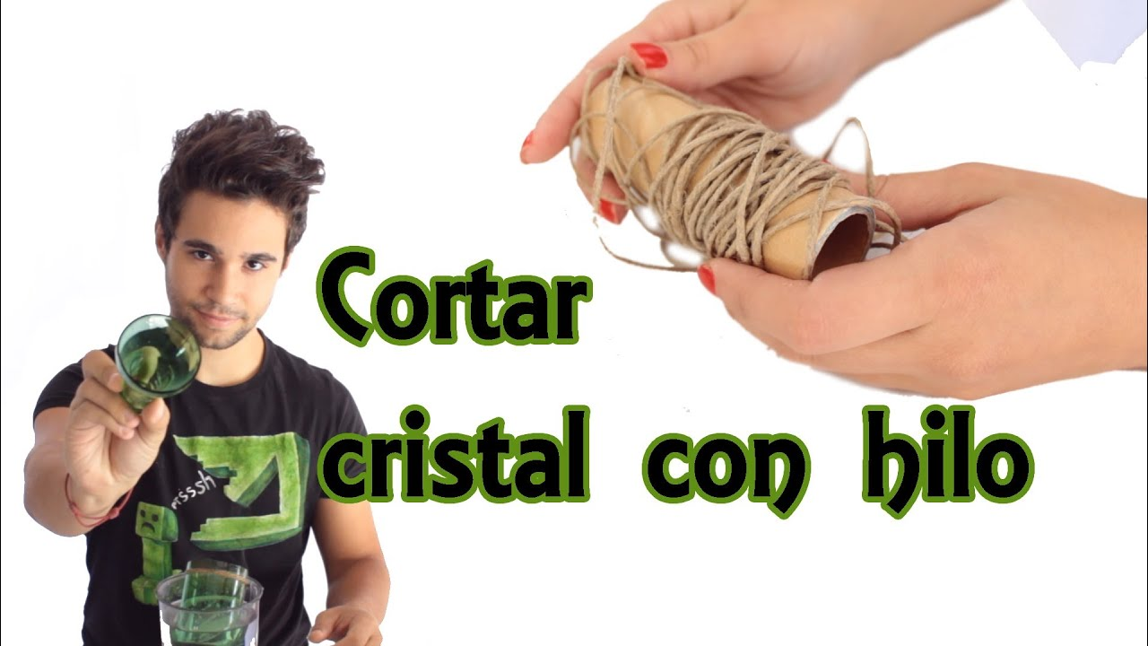 How to cut glass with a thread home experiments youtube for Cortar cristal para gatera