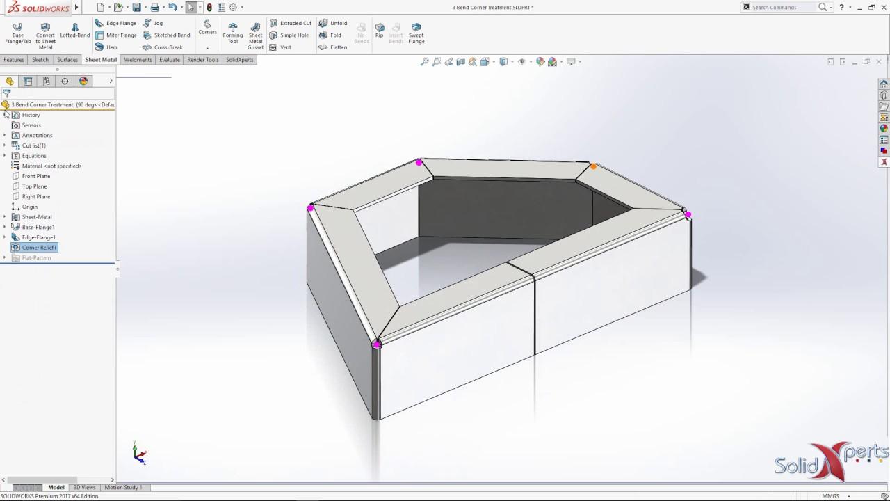 Solidworks 2017 Tech Tip Sheet Metal Corner Relief Feb