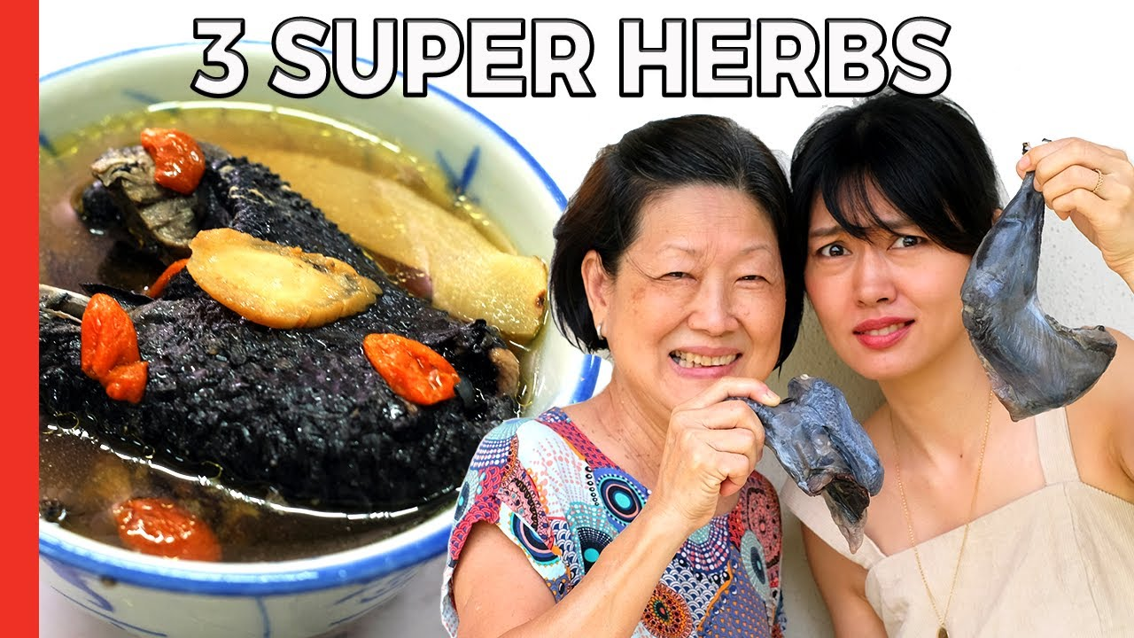 Black Chicken Soup?! Mom's Chinese Herbal Recipe - (5 Ingredients!)