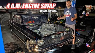 LS Fest Vegas Day 2 - ALL NIGHT Engine Swap in James' Nova Did NOT End Well... (sad eagles)