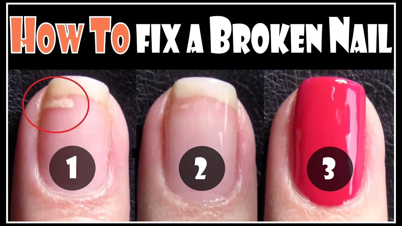 HOW TO FIX A BROKEN NAIL | REPAIR YOUR SPLIT NAILS EASY STEP BY STEP ...