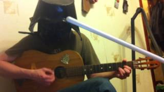 Darth Vader Plays the guitar and gets a lightsaber