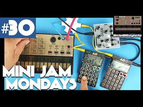 Mini Jam Monday #30   Volca Keys, PO-35 Speak, PO-28 Robot, and Bastl DUDE  Mixer