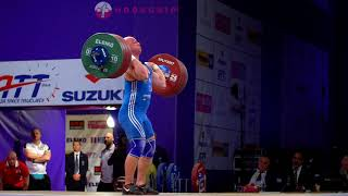 Krzysztof Zwarycz (85) - 199kg Clean and Jerk @ 2017 European Championships