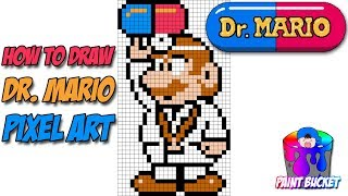 How to Draw Dr. Mario - Super Mario NES 8-Bit Pixel Art Drawing Lesson