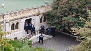 Nice attack: Moment gunfire heard at scene of church 'terror' attack