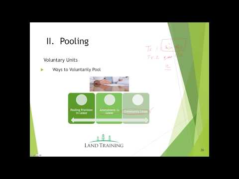 Pooling & Unitization Webinar