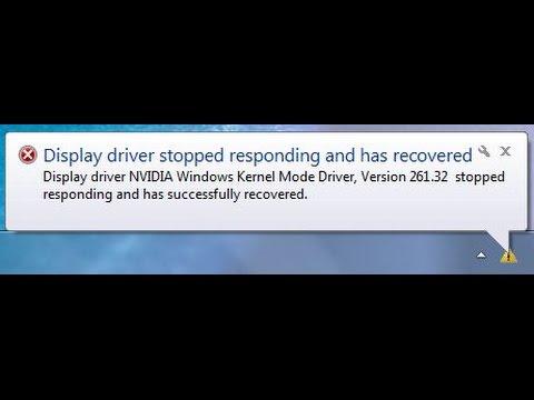 [Решение проблемы] Nvidia Windows Kernel Mode Driver перестал отвечать и был успешно восстановлен.