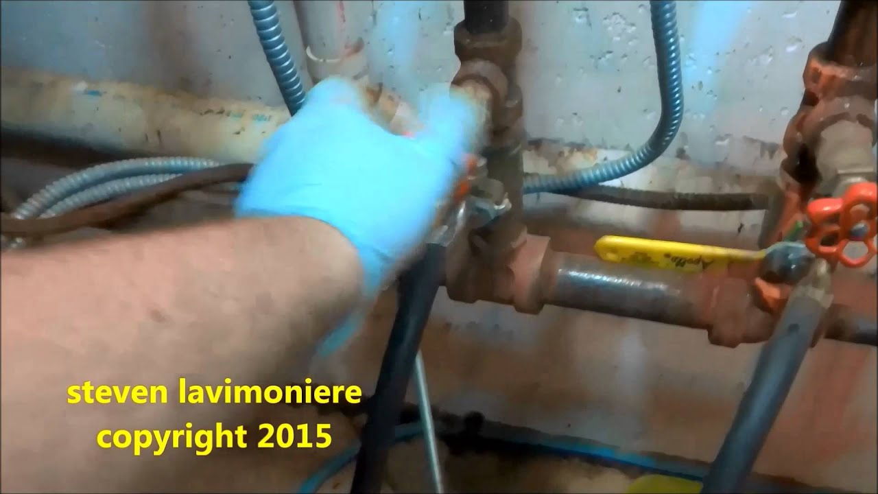 added glycol to hydronic heating system - YouTube