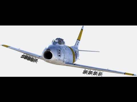 DCS World F86F Sabre - simple A-G with HVAR & guns