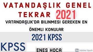 Vatandaşlık Genel Tekrar 2020 önlisans ortaöğretim