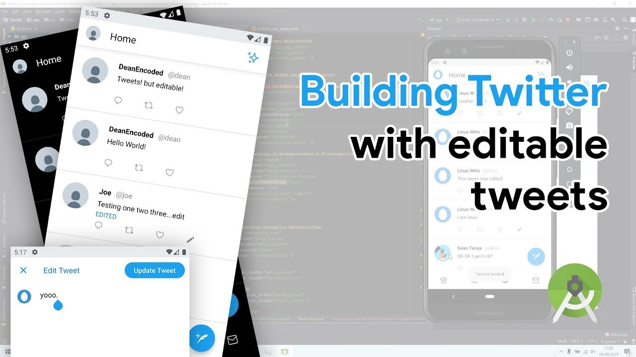 Building a Twitter clone with editable tweets (Speed-coding