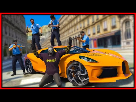 GTA 5 Roleplay - stealing $20M Bugatti from ANGRY French Police | RedlineRP