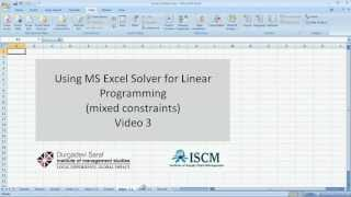 Linear Programming with mixed constraints on MS Excel Solver