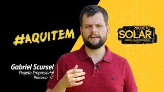 #AquiTemProjetoSolar - Posto Scursel, Ibirama - SC