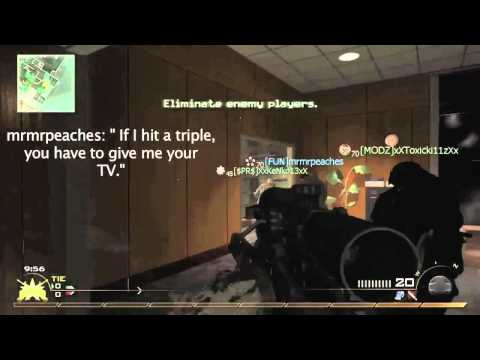 [MW2] HILARIOUS Reaction to a Highrise Spawn Snipe! | MrMrPeaches