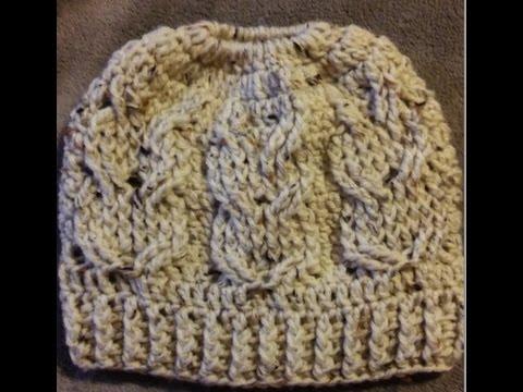 Crochet Owl Messy Bun Hat Free Video Tutorial Youtube