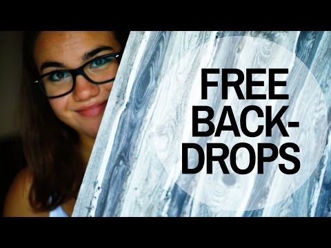 FREE BACKDROPS I Food Photography Tutorials - Where can I find backdrops for free?