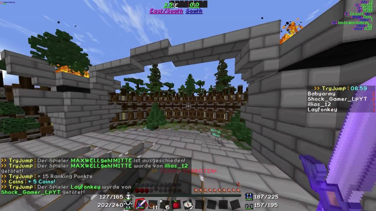 GEILES SPIEL MINECRAFTTRYJUMP YouTube - Minecraft tryjump spielen