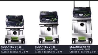 Unità mobili di aspirazione CLEANTEC CT 26-36-48 Festool - shopmancini.com