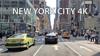 Driving Downtown - Midtown Manhattan - New York City USA