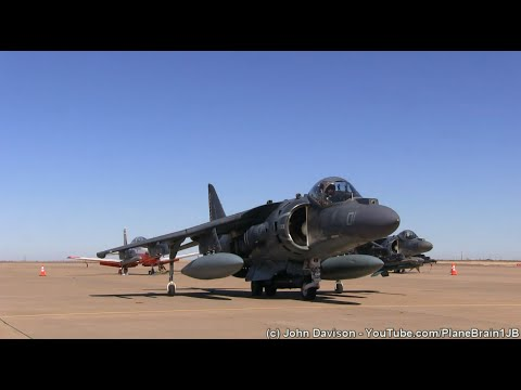 AV-8B Harrier's & AH-64 at Midland Intl. Airport (KMAF) - (1