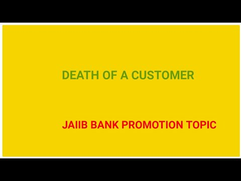 DEATH OF A CUSTOMER AND SETTLEMENT OF CLAIMS IN BANK in Hindi JAIIB CAIIB  IBPS BANK PROMOTION