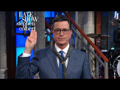 Stephen Colbert rewrites the Boy Scout oath for the Trump era