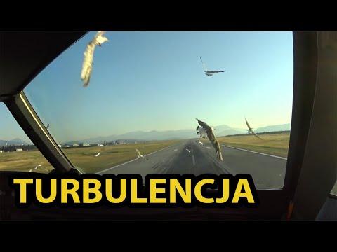 (1) Airbus A320, Bird strike. Uderzenie w ptaki.  Avión de ataque de aves