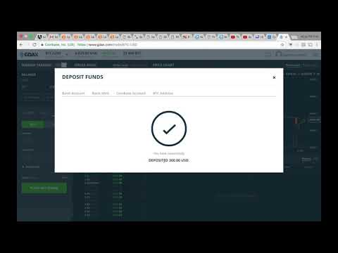 How to transfer money from Coinbase to GDAX.