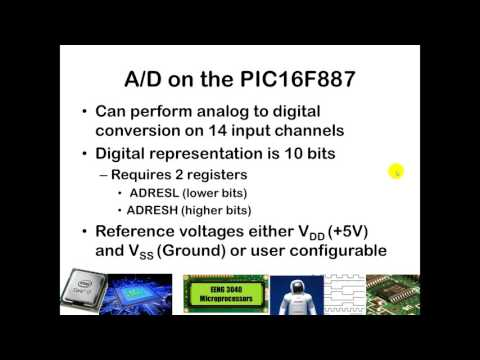 Analog to Digital Conversion with the PIC16F887