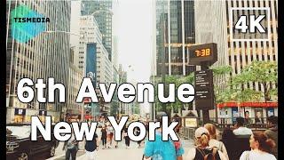 🇺🇸🗽Walking around 6th Avenue【4K】in Midtown Manhattan, New York City, New York, United States