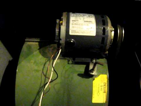 Emerson 1 3hp furnace fan start up noise youtube for Furnace blower motor noise