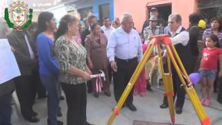 Inauguración de los Pasajes Uno y DOS - Hualmay 2015