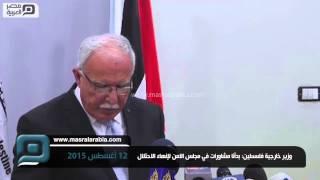 مصر العربية | وزير خارجية فلسطين: بدأنا مشاورات في مجلس الامن لإنهاء الاحتلال