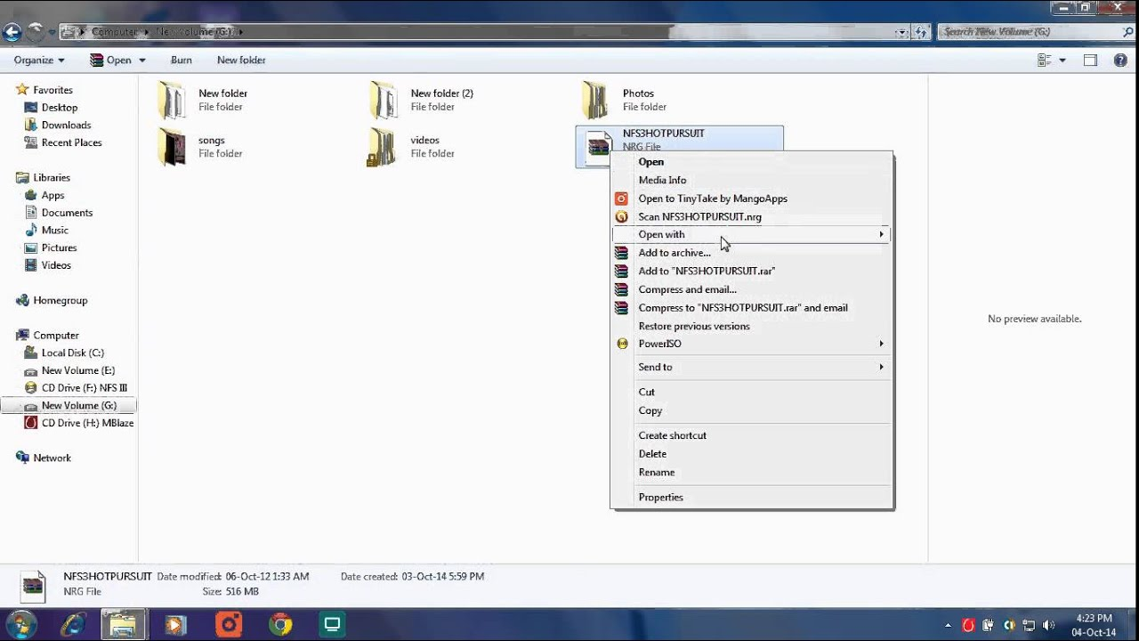 how to open nrg file in windows 10