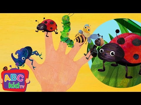Finger Family - Insects | Nursery Rhymes & Kids Songs - ABCkidTV